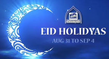 Madrasa Eid Holiday